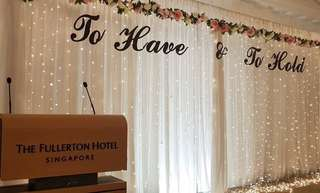 Wedding Stage Fairy Lights Backdrop