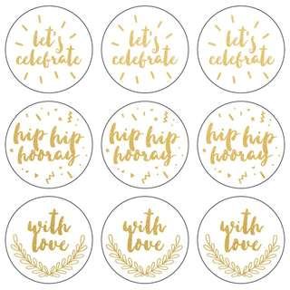 Kaisercraft - Lucky Dip Foil Stickers - Let's Celebrate