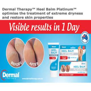 Dermal Therapy Heel Balm Platinum dry skin treatment foot care