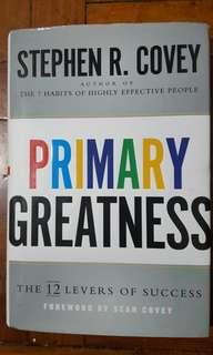 Primary Greatness Stephen Covey Book Business Self Help 7 Habit