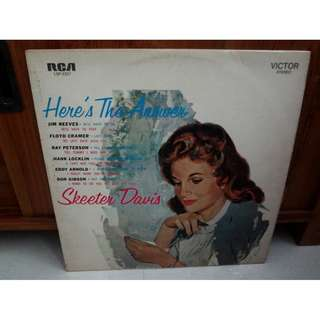 Skeeter Davis Here's The Answer Vinyl LP Record