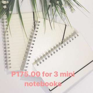 Trio Promo! Get 3 A6 (Lined, Grid, Blank) Notebook for 175 php