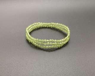 Peridot 3 layers Bracelet