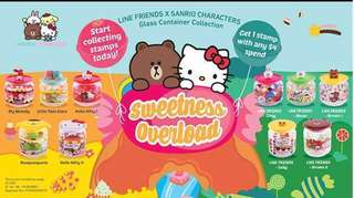 7-Eleven Line Friends X Sanrio Characters Glass Container Collection