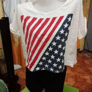 Crop Top USA Flag! 😄
