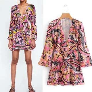 Europe Printed Floral Dress