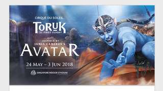 Toruk Avatar 4 x Cat 2 Tickets for 1st Jun, this friday 8pm