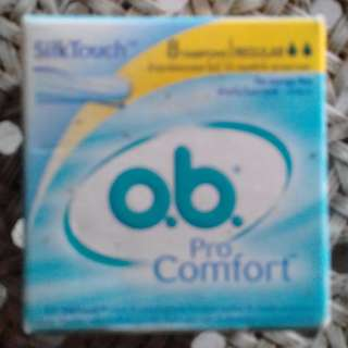 Johnson & Johnson o.b. Pro Comfort Silk Care 8 Tampons BNIP up for auction