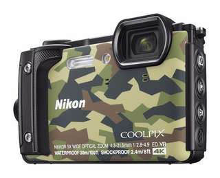Nikon Coolpix W300 Compact Digital Camera Waterproof Army