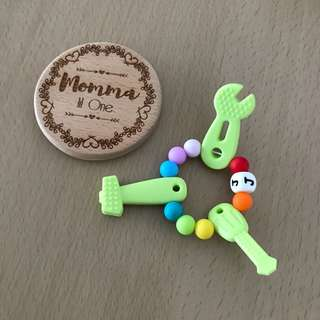 Silicone tools teether ring rattle