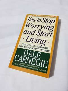 Dale Carnegie How to Stop Worrying and Start Living Book