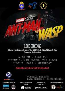 Ant-man and the Wasp Block Screening Ticket