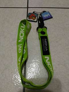 絕版 Nokia ovi 綠色 手機吊飾 掛繩 證件夾 憤怒鳥