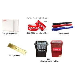 "Supreme Accessories Pt 4.1 ""Stationary"""