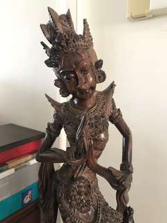 RARE FIND beautiful intricate antique wooden sculpture