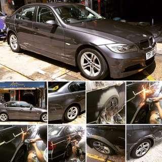 BMW車身修復施工 預約電話:31739102
