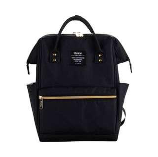 🚚   【現貨】Heine 媽媽包 媽咪包 新手媽媽包 爸爸包 旅行包 後背包 親子包 大開口 好收納-黑色
