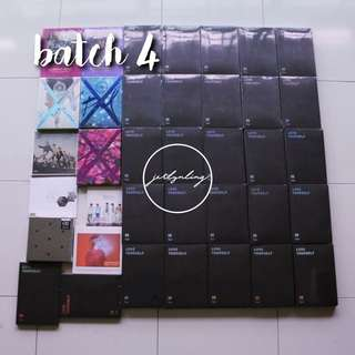 [INSTOCK] KPOP ALBUMS BATCH 4 (bts love yourself tear, bap)