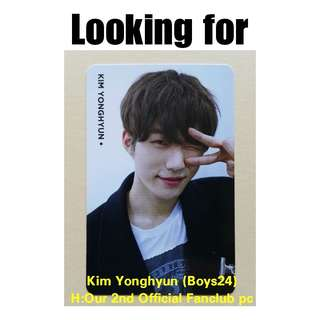 Looking For Kim Yonghyun (Boys24) H:Our official pc