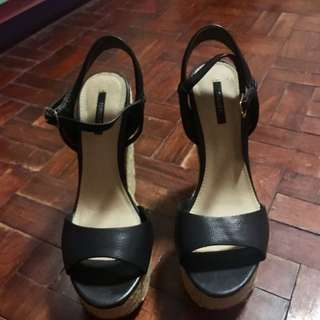 Forever 21 Black Wedge Heels