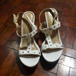 Payless White Wedge Heels