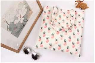 🚚 現貨-鳳梨 帆布包 購物袋