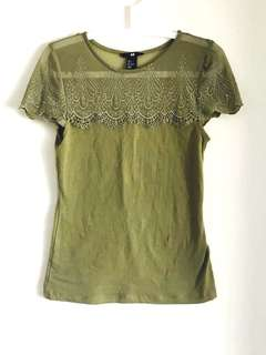 H&M Olive Green Shirt