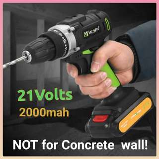 In-Stock! 21Volts Double Speed Professional Cordless Driver Drill **** Powered By 2.0Ah Li-ion Battery