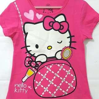 Kaos karakter anak motif hello kitty 1-6T