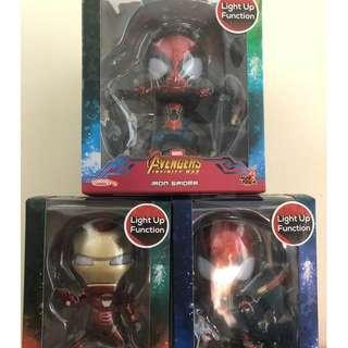 全新 Hot Toys Cosbaby Avengers 3 Infinity War Iron Man Spider Man 鐵甲奇俠 蜘蛛俠