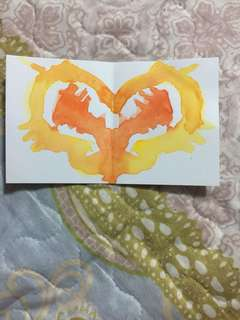 Fiery Mini Butterfly Painting