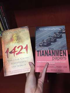 china history books 1421 the year china discovered the world / the tiananmen papers tian an men