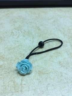 🚚 湖水綠玫瑰髮圈