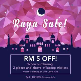 RAYA SALE! Customized Laptop Stickers