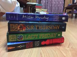 the keys to the kingdom series garth nix mister monday / sir thursday / lady friday / superior saturday