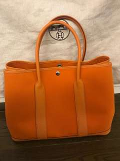 散貨Hermes garden party 36cm orange 9J colour