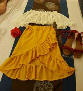 Havana outfit set(top and skirt)