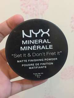 Nyx Set It & Don't Fret It Matte Finishing Powder