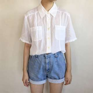 White Basic Cotton Shirt