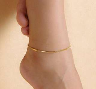 Chain Anklet Bracelet in Gold