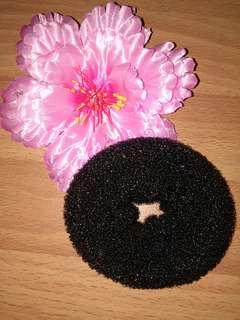 Black Hair Donut Bun Maker