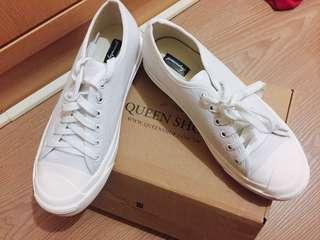 QS綁帶帆布鞋