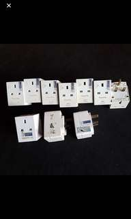 3 Ways Multi PowerPoint Sockets With SG Safety Sticker