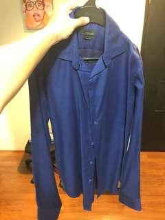 Zara men blue shirt