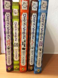 Diary Of A Wimpy Kid (5 books)