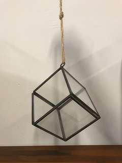 Hanging Geometric Glass Terrarium