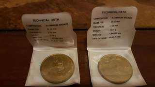 Aluminium bronze $5 coin set