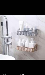 BNIP BN No Drill Wall Shelf Bathroom Kitchen Toilet