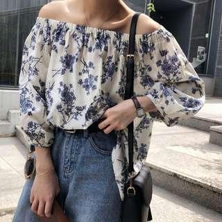 (PO) Pette Off-Shoulder Floral Top