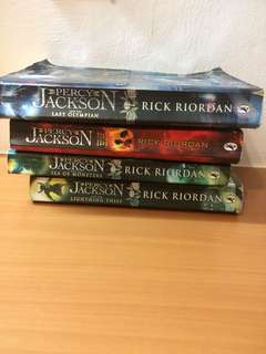 Percy Jackson books (4 books)